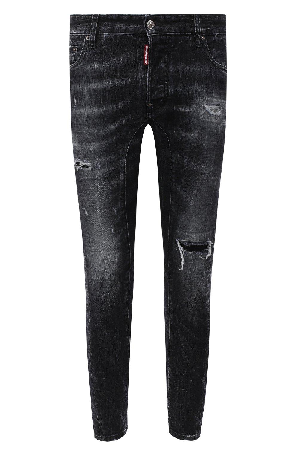 Мужские джинсы DSQUARED2 темно-серого цвета, арт. S74LB0827/S30357 | Фото 1