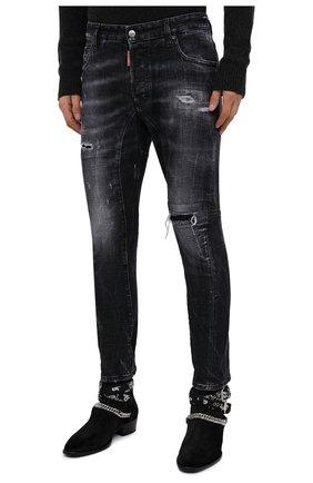 Мужские джинсы DSQUARED2 темно-серого цвета, арт. S74LB0827/S30357 | Фото 4