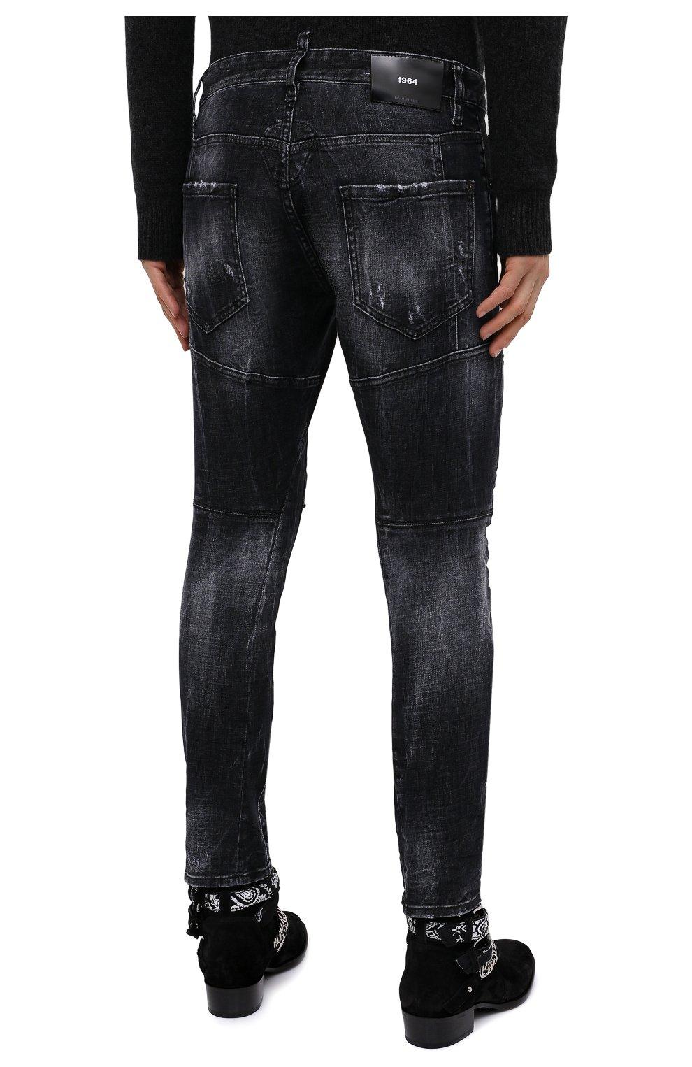 Мужские джинсы DSQUARED2 темно-серого цвета, арт. S74LB0827/S30357 | Фото 5