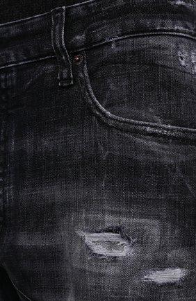 Мужские джинсы DSQUARED2 темно-серого цвета, арт. S74LB0827/S30357 | Фото 6