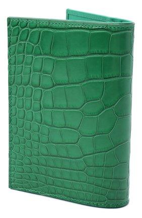 Женские обложка для паспорта из кожи аллигатора DOLCE & GABBANA зеленого цвета, арт. BI2215/B2DG9/AMIS | Фото 2