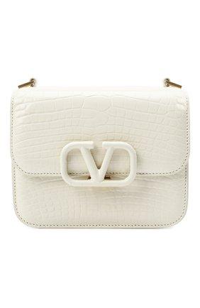 Женская сумка valentino garavani из кожи аллигатора VALENTINO белого цвета, арт. UW2B0F01/XDE/AMIS | Фото 1