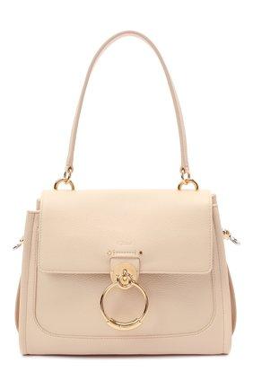 Женская сумка tess day small CHLOÉ бежевого цвета, арт. CHC20AS142C62   Фото 1