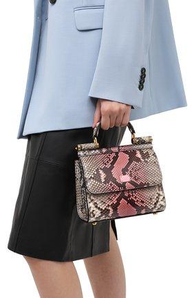 Женская сумка sicily из кожи питона DOLCE & GABBANA розового цвета, арт. BB6846/A2V35/PRET | Фото 2