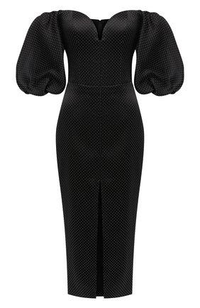 Женское платье-миди RASARIO черного цвета, арт. 0084W20   Фото 1