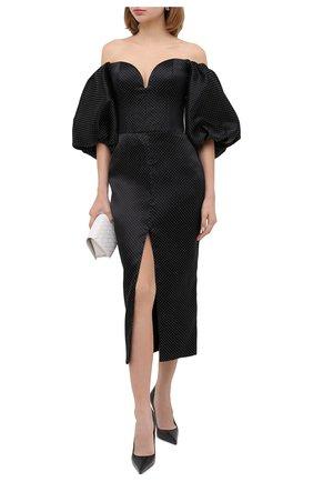Женское платье-миди RASARIO черного цвета, арт. 0084W20   Фото 2
