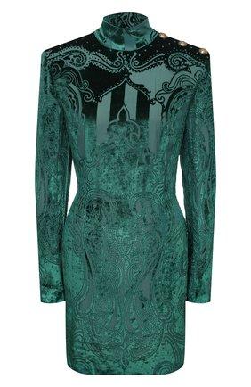 Женское платье из вискозы BALMAIN зеленого цвета, арт. UF16203/V121 | Фото 1