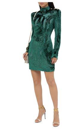 Женское платье из вискозы BALMAIN зеленого цвета, арт. UF16203/V121 | Фото 2