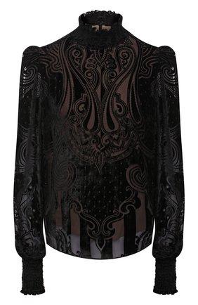 Женская блузка из вискозы BALMAIN черного цвета, арт. UF12682/V121   Фото 1