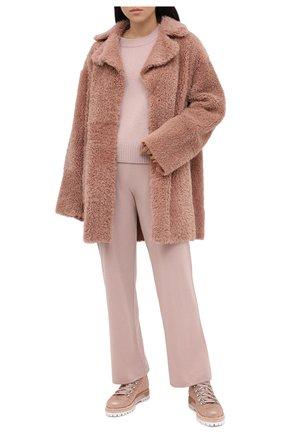Женские кожаные ботинки LE SILLA розового цвета, арт. 7510M040M1MMBUR | Фото 2
