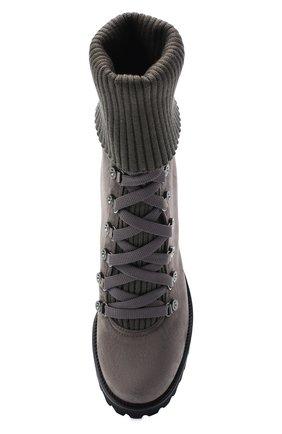 Женские замшевые ботильоны st. moritz LE SILLA серого цвета, арт. 7406R080M1PPP0W | Фото 5