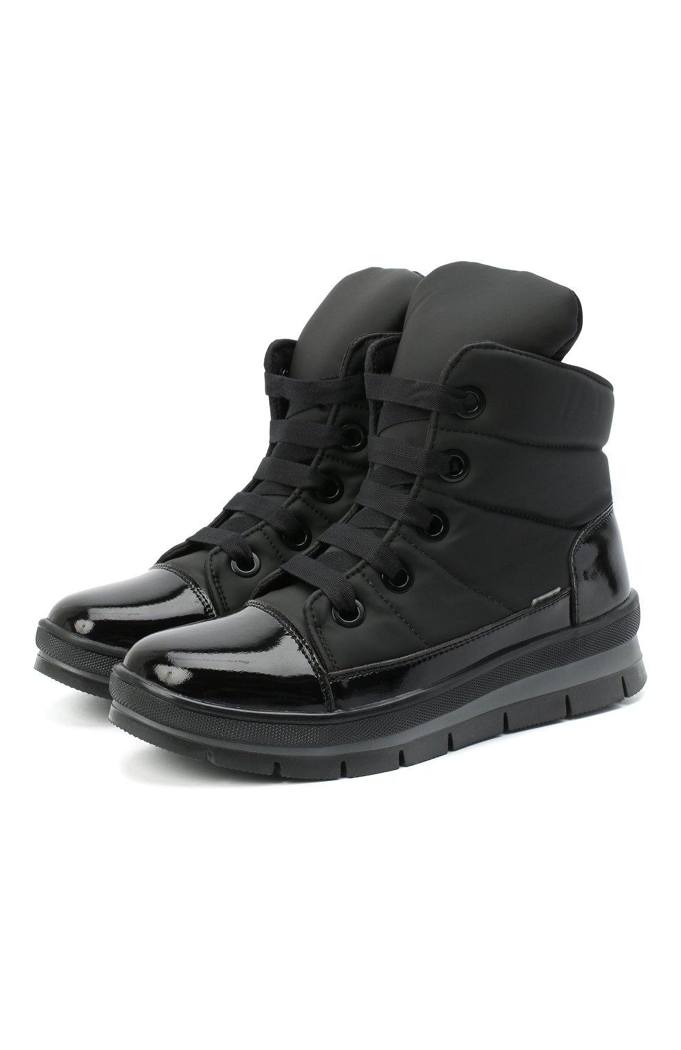 Женские текстильные ботинки JOG DOG черного цвета, арт. 14007R/DR_ZAFFIR0SIGMA/W   Фото 1