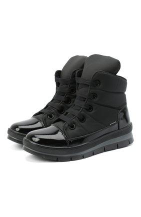 Женские текстильные ботинки JOG DOG черного цвета, арт. 14007R/DR_ZAFFIR0SIGMA/W | Фото 1