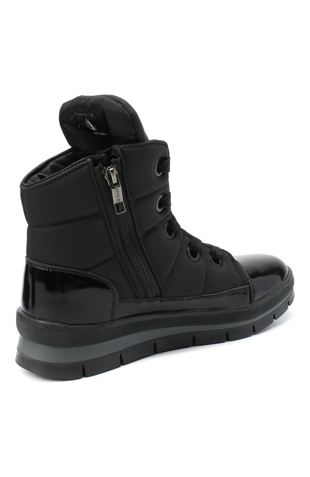 Женские текстильные ботинки JOG DOG черного цвета, арт. 14007R/DR_ZAFFIR0SIGMA/W   Фото 4