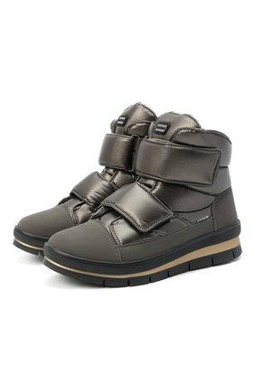 Женские текстильные ботинки JOG DOG серебряного цвета, арт. 14039R/DR_TU0N0BALTIC0/W | Фото 1