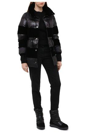 Женские текстильные ботинки JOG DOG черного цвета, арт. 14069R/TU0N0BALTIC0/W | Фото 2