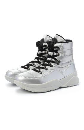 Женские текстильные ботинки JOG DOG серебряного цвета, арт. 1603DR/ZAFFIR0FLASH/W | Фото 1