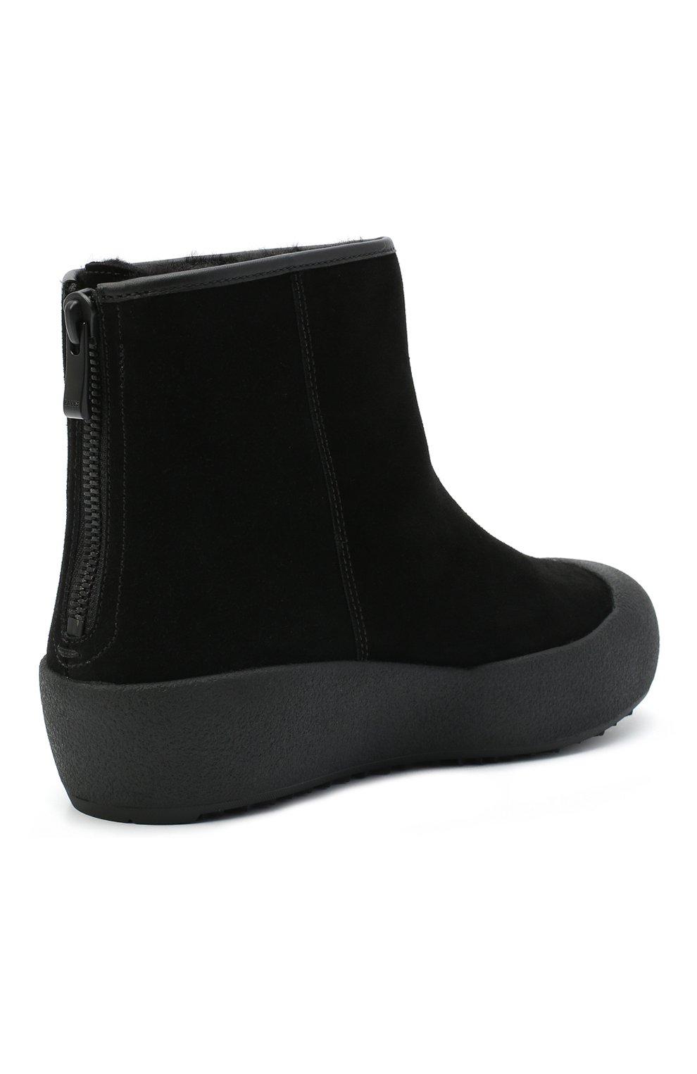 Женские замшевые ботинки guard ii BALLY черного цвета, арт. GUARD II L-NEW/20   Фото 4