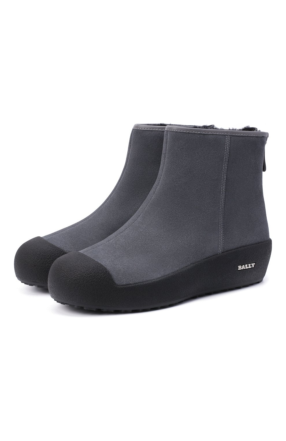 Женские замшевые ботинки guard ii BALLY серого цвета, арт. GUARD II L-NEW/25 | Фото 1