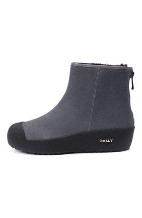 Женские замшевые ботинки guard ii BALLY серого цвета, арт. GUARD II L-NEW/25 | Фото 3
