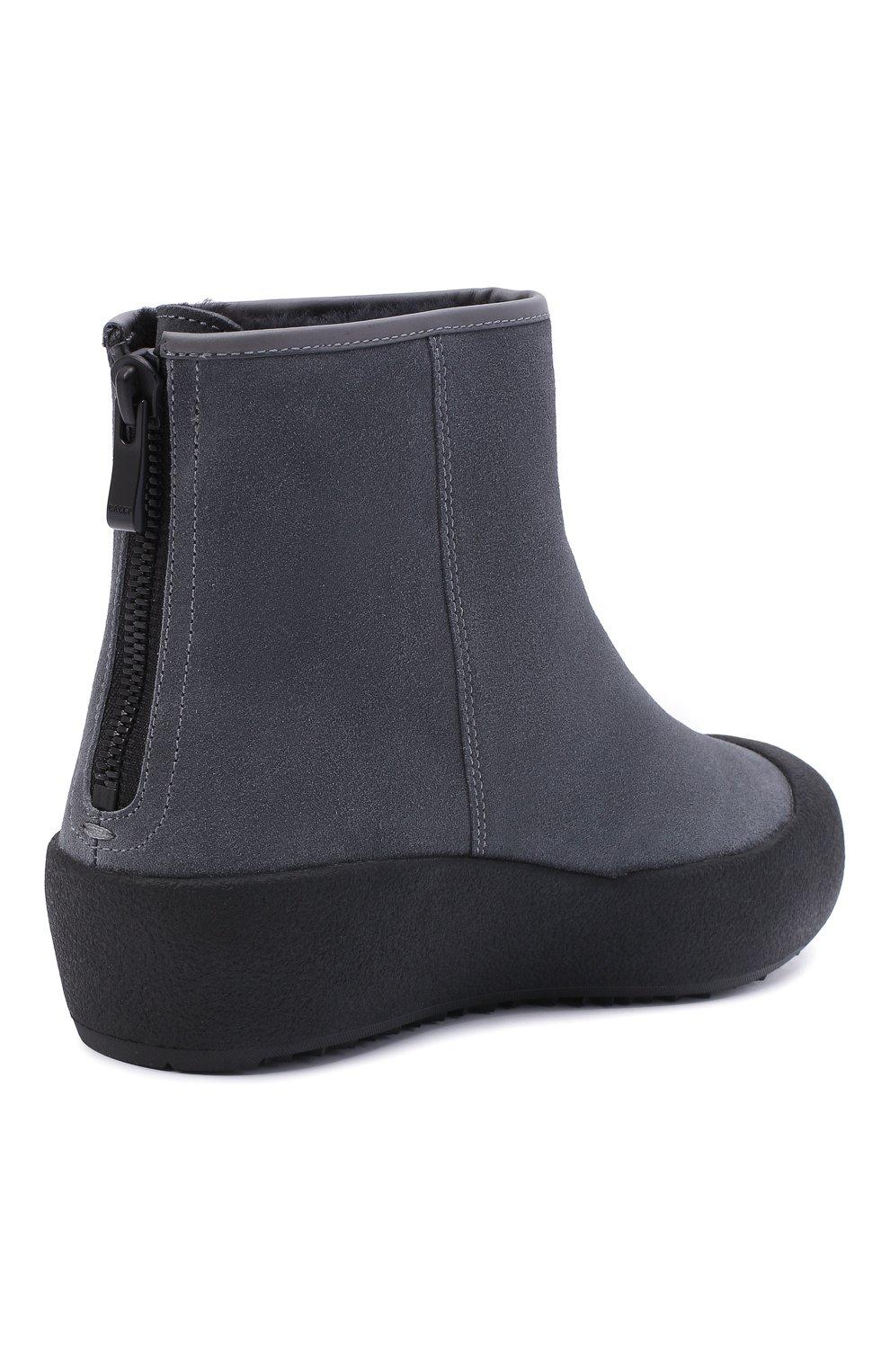 Женские замшевые ботинки guard ii BALLY серого цвета, арт. GUARD II L-NEW/25 | Фото 4