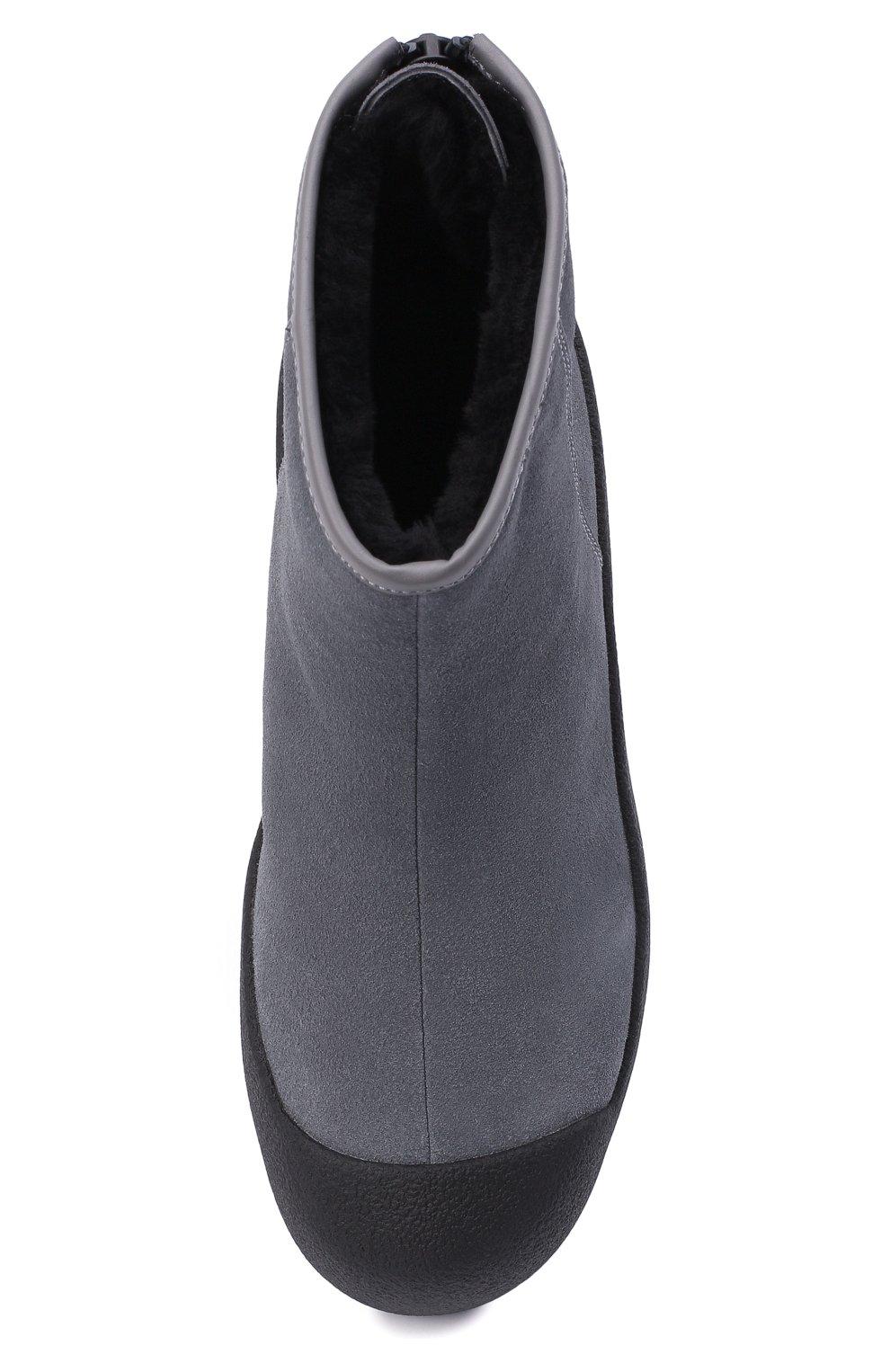 Женские замшевые ботинки guard ii BALLY серого цвета, арт. GUARD II L-NEW/25 | Фото 5