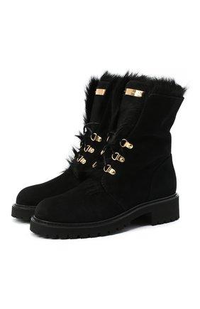 Женские замшевые ботинки phillis GIUSEPPE ZANOTTI DESIGN черного цвета, арт. I070009/001 | Фото 1