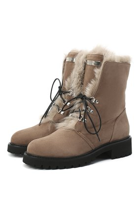Женские замшевые ботинки phillis GIUSEPPE ZANOTTI DESIGN бежевого цвета, арт. I070009/002 | Фото 1
