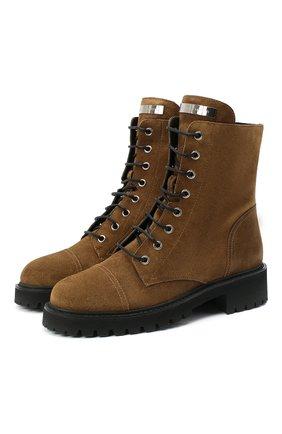 Женские замшевые ботинки thora GIUSEPPE ZANOTTI DESIGN бежевого цвета, арт. I070010/006   Фото 1