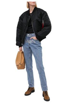 Женские замшевые ботинки thora GIUSEPPE ZANOTTI DESIGN бежевого цвета, арт. I070010/006   Фото 2