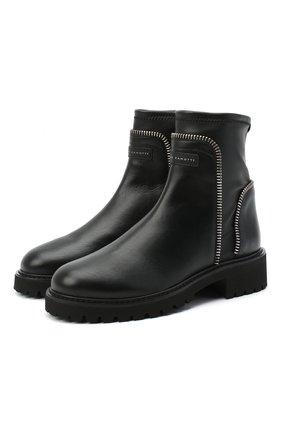 Женские кожаные ботинки rodger GIUSEPPE ZANOTTI DESIGN черного цвета, арт. I070011/001 | Фото 1