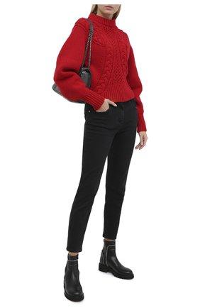 Женские кожаные ботинки rodger GIUSEPPE ZANOTTI DESIGN черного цвета, арт. I070011/001 | Фото 2