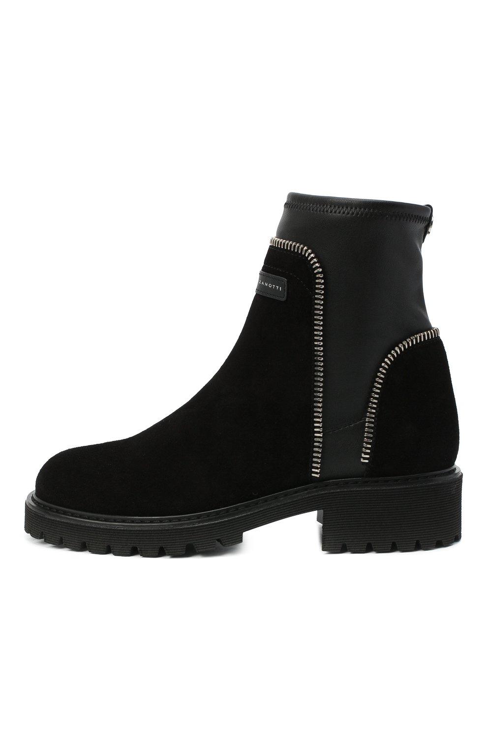 Женские комбинированные ботинки rodger GIUSEPPE ZANOTTI DESIGN черного цвета, арт. I070011/002 | Фото 3