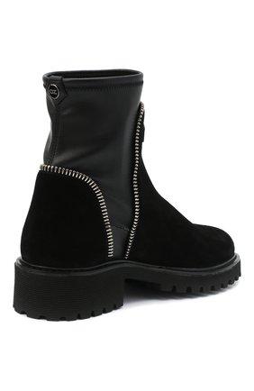 Женские комбинированные ботинки rodger GIUSEPPE ZANOTTI DESIGN черного цвета, арт. I070011/002 | Фото 4