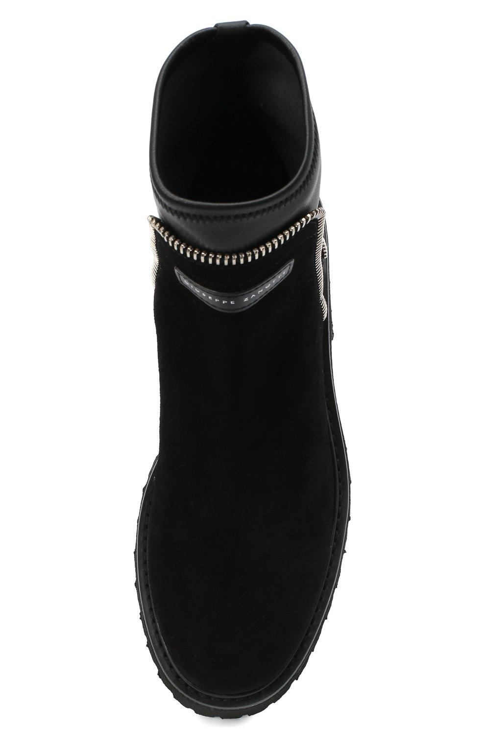 Женские комбинированные ботинки rodger GIUSEPPE ZANOTTI DESIGN черного цвета, арт. I070011/002 | Фото 5