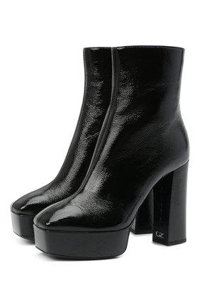 Женские кожаные ботильоны morgana GIUSEPPE ZANOTTI DESIGN черного цвета, арт. I070012/001 | Фото 1