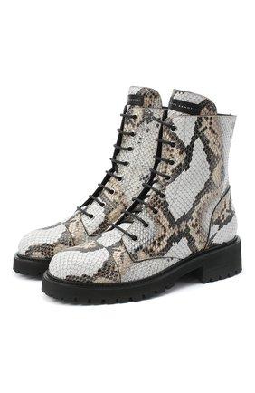 Женские кожаные ботинки GIUSEPPE ZANOTTI DESIGN серого цвета, арт. I070035/002 | Фото 1