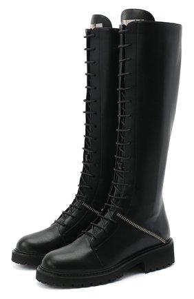 Женские кожаные сапоги GIUSEPPE ZANOTTI DESIGN черного цвета, арт. I080004/002   Фото 1