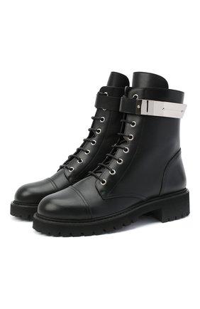 Женские кожаные ботинки alexa GIUSEPPE ZANOTTI DESIGN черного цвета, арт. I970002/012 | Фото 1