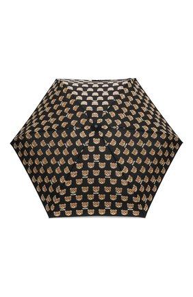 Женский складной зонт с принтом MOSCHINO черного цвета, арт. 8067-SUPERMINI | Фото 1