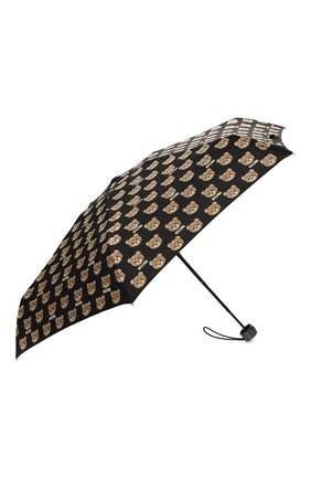 Женский складной зонт с принтом MOSCHINO черного цвета, арт. 8067-SUPERMINI | Фото 2