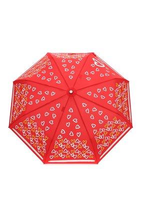 Женский складной зонт MOSCHINO красного цвета, арт. 7011-0PENCL0SE | Фото 1