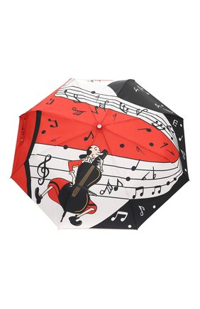 Женский складной зонт MOSCHINO красного цвета, арт. 7020-0PENCL0SE | Фото 1