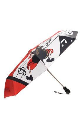 Женский складной зонт MOSCHINO красного цвета, арт. 7020-0PENCL0SE | Фото 2