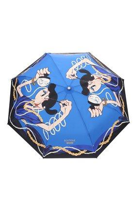 Женский складной зонт MOSCHINO голубого цвета, арт. 7950-0PENCL0SE | Фото 1