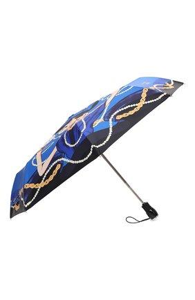Женский складной зонт MOSCHINO голубого цвета, арт. 7950-0PENCL0SE | Фото 2