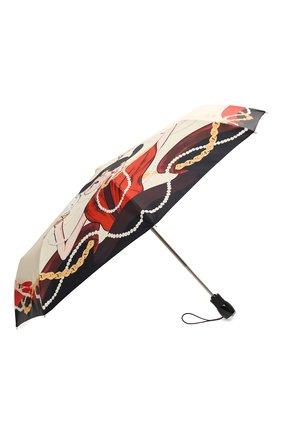 Женский складной зонт MOSCHINO кремвого цвета, арт. 7950-0PENCL0SE | Фото 2
