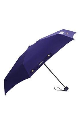 Женский складной зонт MOSCHINO синего цвета, арт. 8014-SUPERMINI | Фото 2