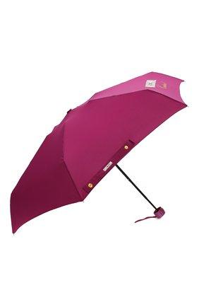 Женский складной зонт MOSCHINO бордового цвета, арт. 8014-SUPERMINI | Фото 2