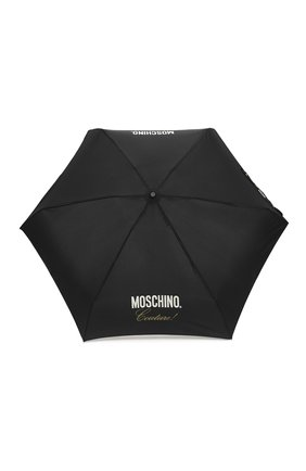 Женский складной зонт MOSCHINO черного цвета, арт. 8014-SUPERMINI | Фото 1